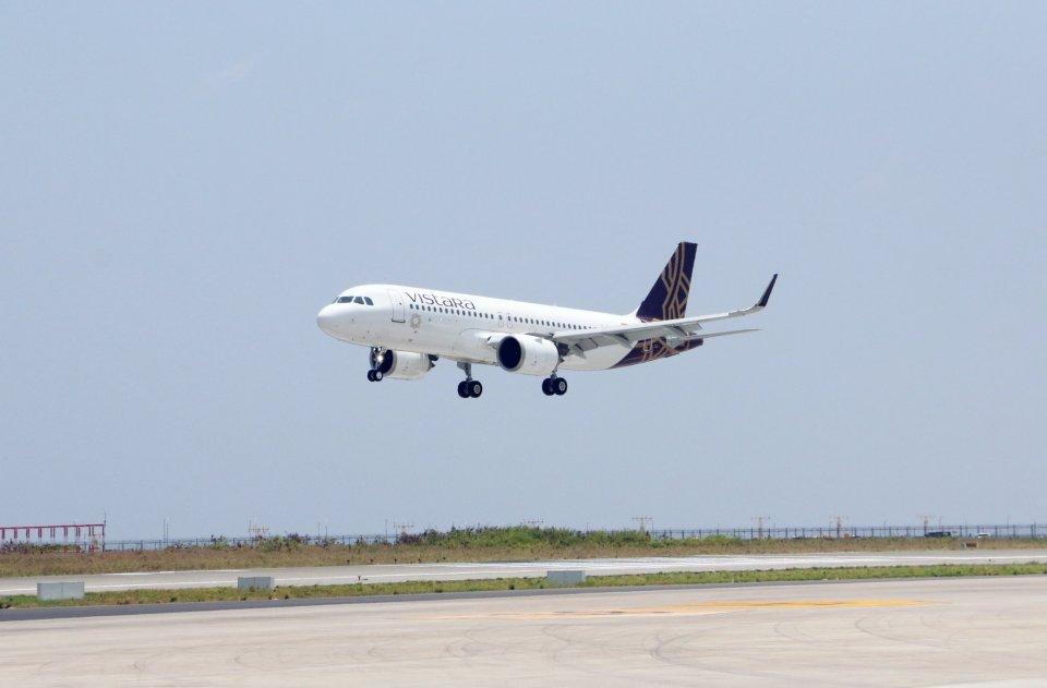 Mumbai aai Raajje aa dhemedhu seedhaa dhathuru thah vistara airline in fashaifi