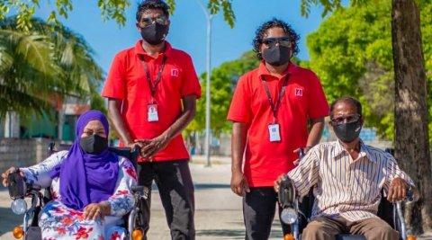 BML in tihuru motorised wheelchair hadhiyaa koffi