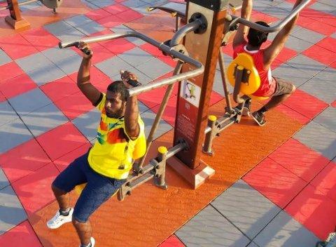 BML ge eheegai Kurinbee gai out door gym eh hadhaifi