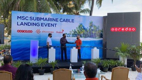 Lanka in Raajje ah elhi submarine cable in khidhumai dheyn thayyaaru vejje