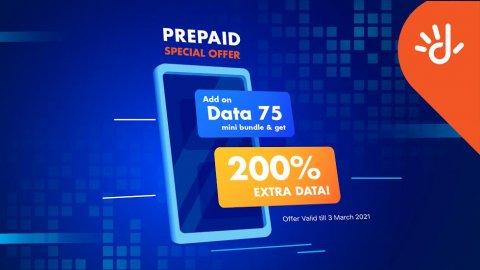 Dhiraagu Prepaid 75 Mini data bundle activate kohgen 200% data