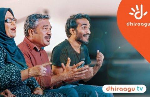 Dhiraagu TV aai Dhiragu Playin EURO match thah dhakkaane