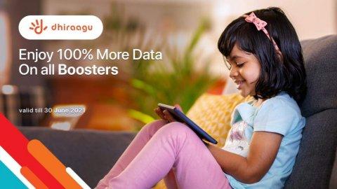 Dhiraagu customer in Booster gathumun 2 guna data dhenee