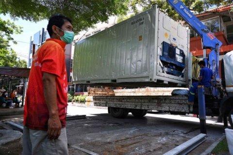 Thailand mortuary thah furi, maruvaa meehun containaru thakugai rakkaa kuranee